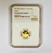 2011Mo Mexico Gold 1/20 Onza Graded PF68 Ultra Cameo by NGC Mintage 1,100 Coins