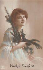 BG8422 kerstfeest women fir branch  christmas greetings netherlands