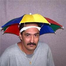 4  STAY COOL COLORED UMBRELLA HAT new womens mens headwear cap umbrellas