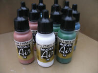 VALLEJO MODEL AIR ACRYLIC AIRBRUSH PAINTS CHOOSE ANY 12 X 17ml BOTTLES