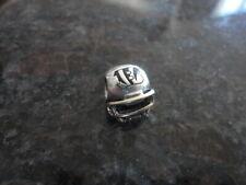 Football Helmet Charm - Retired Pandora Silver/Gold Nfl Cincinnati Bengals