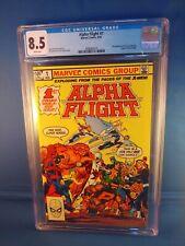 Alpha Flight #1 1983 Marvel CGC 8.5 VF+ White Pages