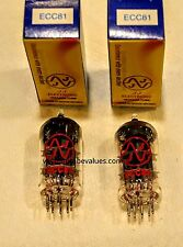 PAIR TWO JJ 12AT7 / ECC81 Vacuum Tube, Matched  FACTORY TESTED