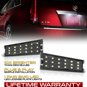 [BRIGHT WHITE] 2008-2010 Cadillac CTS SMD LED License Plate Lights Housing Lamps