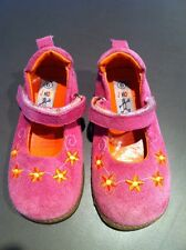 Girls Pink Leather Suede Toddler Mary Janes Size 6 JUNIOR LEAGUE