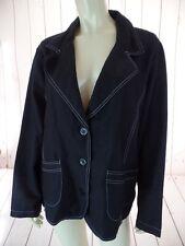 BUTTONS Blazer 2X Black Linen Blend Button Front Lightweight Deconstructed COMFY