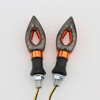 2X Orange Universal Motorcycle 12 LED Turn Signals Indicator Blinker Amber light