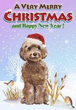 "Cockapoo Dog A6 (4"" x 6"") Christmas Card (Blank inside) Design by Starprint"