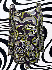 G566 ✪ Groovy 60er 70er Years Retro Pattern Shirt Tunic Psychedelic Hippie Size .