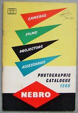 NEBRO PHOTOGRAPHIC CATALOGUE FOR 1960
