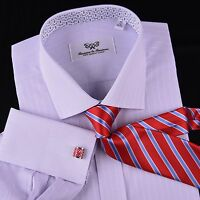 Soft Purple Checkered Dress Shirt Pink Designer Windmill Formal Floral Business