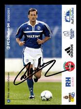 Nico van Kerckhoven Autogrammkarte FC Schalke 04 2000-01 Original Sign + A 62534