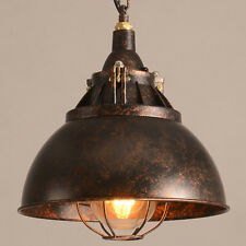 Rustic Industrial Pendant Light Fixture Iron Outdoor Country Dome Shade Light