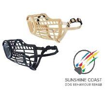 DOG  CANINE PLASTIC BASKET DOG MUZZLE 7 SZ XXS XS SMALL MEDIUM LARGE XL GIANT