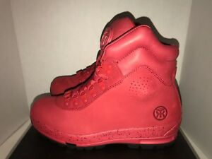 Sumikko Game Changer Red October Suede Boots Men's size 9 9.5
