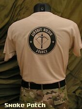 "T SHIRT "" AIRSOFT MILSIM FRANCE "" Tan du S au XXL - Snake Patch COS  tshirt"