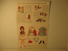 Vintage Betsy McCall Meets the New Betsy Doll Paper Doll Page Mid-1960's Uncut