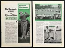 *The Mechanics of Golf* Byron Nelson 1946 pictorial HowTo Play