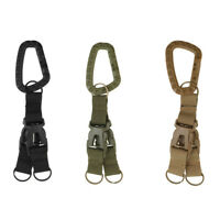 Carabiner Key Chain Quick Release Stainless Steel Outdoor Keyring Bottle Opener