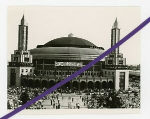 Photo 1941 Convention Arena with sign Comfort All That Mourn Watchtower Jehovah