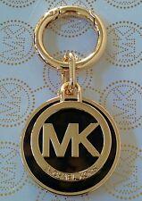 MICHAEL KORS MK Logo Tortoise Key Chain Handbag Fob Charm In Gold And Brown New