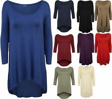 Scoop Neck 3/4 Sleeve Plus Size Other Tops for Women