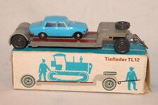 HO 1:87 scale Espewe Tieflader Trailer with Wartburg Sedan, Nice Boxed