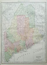 Rand McNally 1916 Map of Maine and Counties