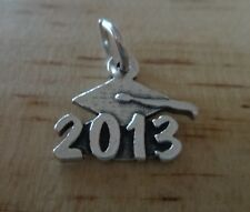 Sterling Silver 13x15mm School 2013 with Graduation Cap College High Sch Charm!!
