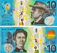 🌟Special AUSTRALIAN $10 ten Dollar 2017 new UNC Banknotes. Limited AB prefix 🌟