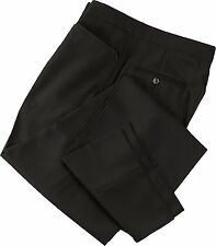 NEW SMITTY Referee and UMPIRE Black Flat Front Pants Size 30 unfinished inseam