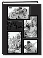 "Photo Album Pioneer 4x6"" 300 Photos Pocket Embossed Sewn Leatherette Cover Black"