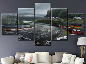 Nurburgring Rally Road Race 5 Panel Canvas Print Poster Wall Art Home Decor