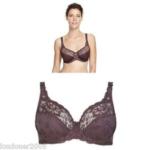 M&S UNDERWIRED FULL CUP BRA in CLARET ~ SIZES 32A TO 38J ~ *BNWT* Deep Burgundy