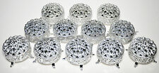 12 PC SILVER ROUND PLASTIC TRINKET BOX WEDDING FAVORS TABLE DECORATIONS FILLABLE