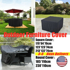 Outdoor Furniture Covers Waterproof Garden Patio Round/ Square Side Table Cover