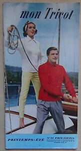 § catalogue ancien laine MON TRICOT N° 31 printemps été - 1957 (pingouin)