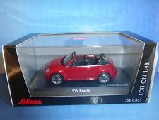 VW VOLKSWAGEN NEW BEETLE CONVERTIBLE 2013 RED TORNADO SCHUCO 07477 1/43 ROT