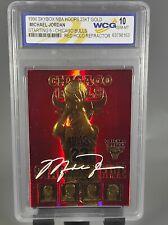 1996 michael jordan GEM 10 SKYBOX NBA HOOPS 23KT GOLD/Red Holo Refractor 💎 🔥🔥
