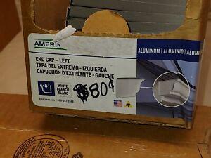 "* Lot of 50 * 5"" NEW Aluminum Gutter End Cap Amerimax 27006 LEFT"