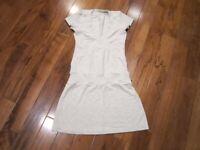 LULULEMON dance pulse short sleeve dress in heathered grey/white size 6 beechlu