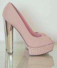 """duck pink shoes 7  6"""" heels BURLESQUE"""