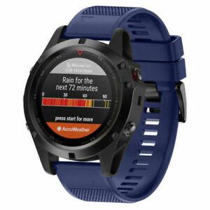 Silicone Quick Install Band Easy Fit Wrist Strap For Garmin Fenix 3 5 5X Plus AM
