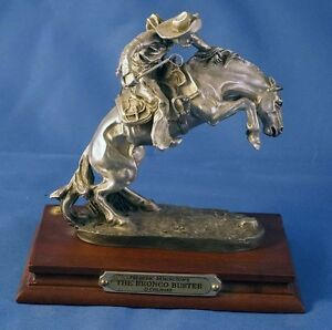 The Bronco Buster Chilmark Pewter Metal US Western Remington by Owner