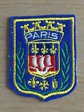 Ecusson blason brodé Paris blason de la ville années 60