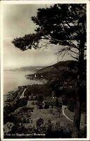 1938 Stempel u. Postkarte Sipplingen am Bodensee Gesamtansicht mit See Panorama