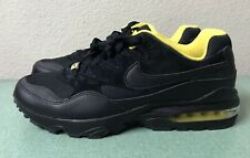 Nike Air Max 94 SE Black Yellow Mens Sz 10.5 Running Shoes 1 90 95 AV8197-002