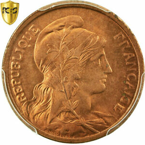 [#484897] Coin, France, Dupuis, 2 Centimes, 1919, Paris, PCGS, MS66RD, Bronze
