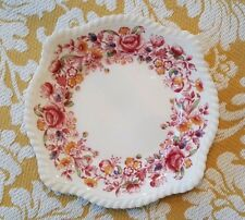 Johnson Brothers Pink Margaret Rose Square Salad Plates - 7 - very hard to find