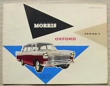 MORRIS OXFORD SERIES V Car Sales Brochure June 1960 #H&E 59-73